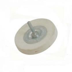 Rueda pulidora de fieltro 100 mm. compactación firme