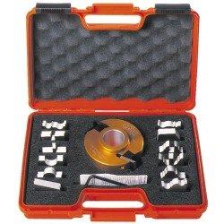 Estuche de portacuchillas y 13 perfiles para tupí con eje de 30 mm. 692.013.02