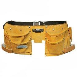 Doble cinturón porta-herramientas en piel