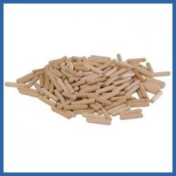 Bolsa de 200 espigas de madera de 8 X 40 mm