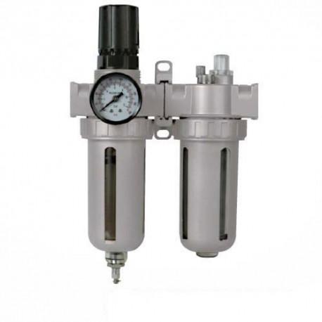 Filtro-lubricador con regulador de presión