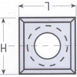 Cuchilla reversible widia de 15 x 12 x 1,5 mm. caja de 10 unidades