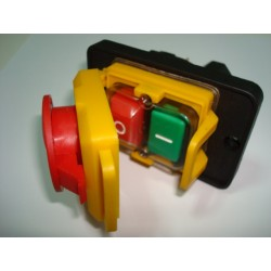 Interruptor con bobina de seguridad protección en maquinas o motores monofásicos de hasta 3 Hp.