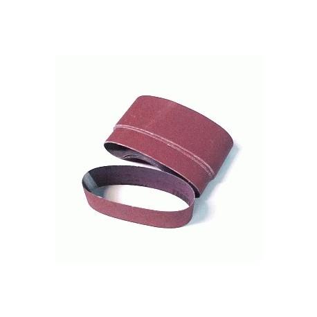 Paquete de bandas de lija en tela de 75 x 533 mm. Gr.80