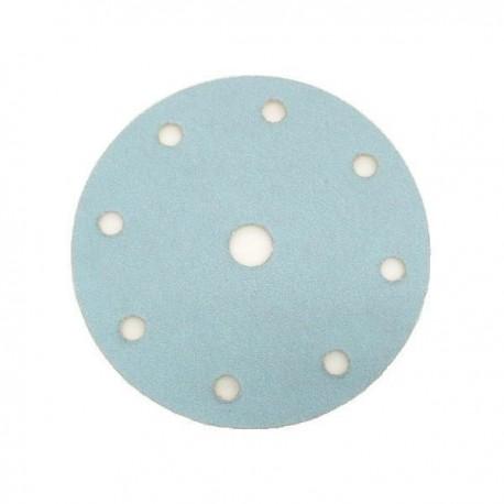 Disco de lija con velcro de 150 mm. y 8 agujeros grano 80
