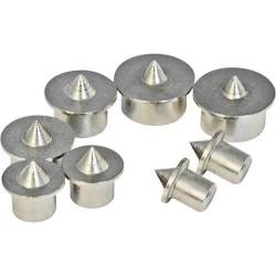 Juego de 8 centradores para espigas de 6 a 12 mm.
