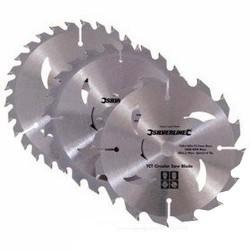 Juego de sierras circulares de widia de 165 mm.