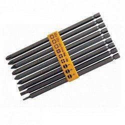 Juego de puntas extralargas para atornillador eléctrico o bateria