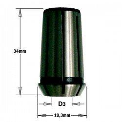 Pinza de 6,35 mm. para fresadoras CMT, DEWALT, FELISATTI, FEIN, METABO