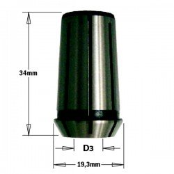 Pinza de 12,7 mm. para fresadoras CMT, DEWALT, FELISATTI, FEIN, METABO