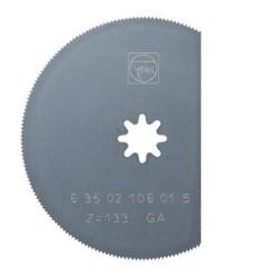 Hoja de sierra segmentada en acero HSS referencia 63502106015