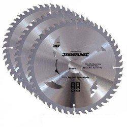 Juego de 3 sierras circulares para madera de 210 mm.