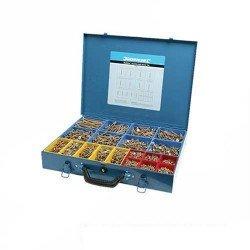Estuche clasificador con 3.400 tornillos PZD avellanados para madera