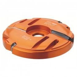 Cabezal de varios perfiles para plafones de puertas con eje 30 mm.