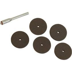 Kit de discos de corte de 22 mm. + espiga