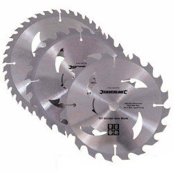 Juego de 3 sierras circulares de widia de 160 mm. referencia 436755