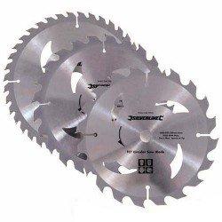 Juego de 3 sierras circulares de widia de 160 mm.