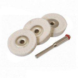 Juego de discos pulidores de fieltro de 25 mm. referencia 656616
