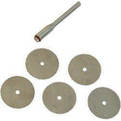 Juego de mini sierras circulares de 22 mm.