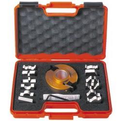 Estuche de portacuchillas y 13 perfiles para tupí con eje de 50 mm. 692.013.08