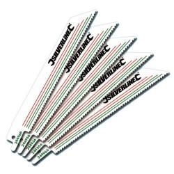Paquete 5 hojas sierra de sable para corte de metales y madera con clavos