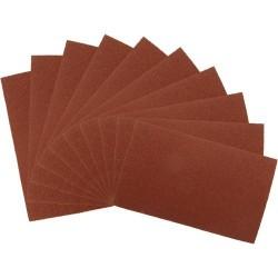 10 pliegos de lija grano 80 en óxido de aluminio de 230 x 280 mm.