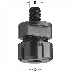 Portabrocas adaptable a eje tupí M-12 para trabajar con herramienta de 3-6-6,35-8-10-12 y 12,7 mm.