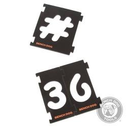 Juego de plantillas numéricas para fresadoras de 31 piezas
