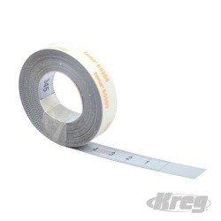 Cinta adhesiva en aluminio con escala derecha-izquierda de 3.650 mm.