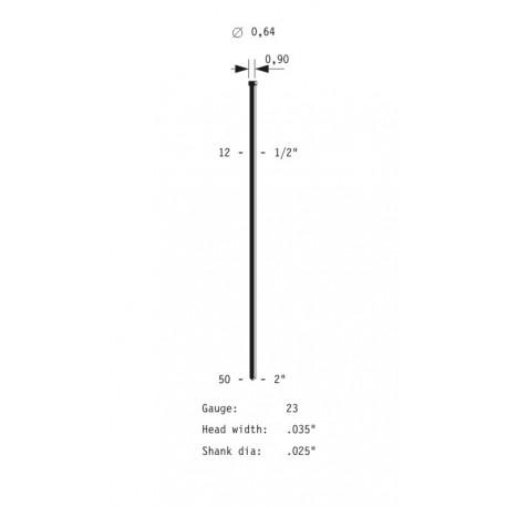 Caja de clavos Brads de 0,6 y 40 mm. largo B6/40