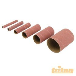 Juego 6 canutos de 115 mm. y diversos diámetros para lijadora oscilante TRITON grano 150