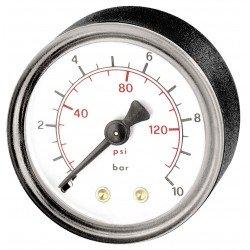 Manómetro con rosca macho trasera de 1/8 para compresor