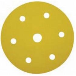 5 Discos de lija con soporte velcro de 225 mm. grano 220