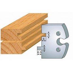 Juego de 2 cuchillas perfiladas de 50 x 5,5 mm. referencia 855.201