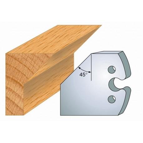 Juego de 2 cuchillas perfiladas de 50 x 5,5 mm. referencia 855.205