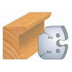 Juego de 2 cuchillas perfiladas de 50 x 5,5 mm. referencia 855.206