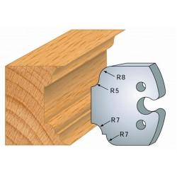 Juego de 2 cuchillas perfiladas de 50 x 5,5 mm. referencia 855.207