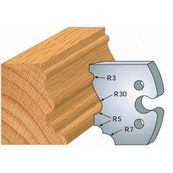 Juego de 2 cuchillas perfiladas de 50 x 5,5 mm. referencia 855.210