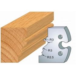 Juego de 2 cuchillas perfiladas de 50 x 5,5 mm. referencia 855.213