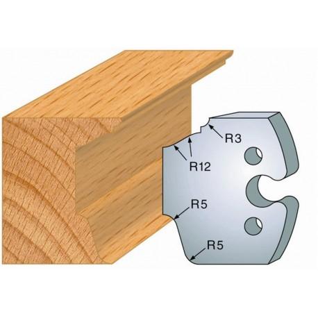 Juego de 2 cuchillas perfiladas de 50 x 5,5 mm. referencia 855.217
