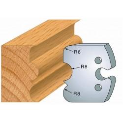 Juego de 2 cuchillas perfiladas de 50 x 5,5 mm. referencia 855.221