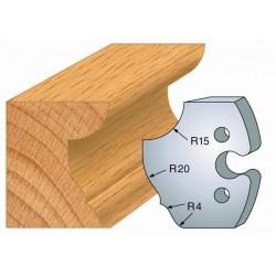 Juego de 2 cuchillas perfiladas de 50 x 5,5 mm. referencia 855.223