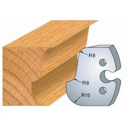 Juego de 2 cuchillas perfiladas de 50 x 5,5 mm. referencia 855.224