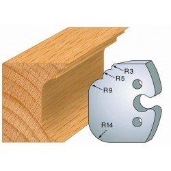 Juego de 2 cuchillas perfiladas de 50 x 5,5 mm. referencia 855.225