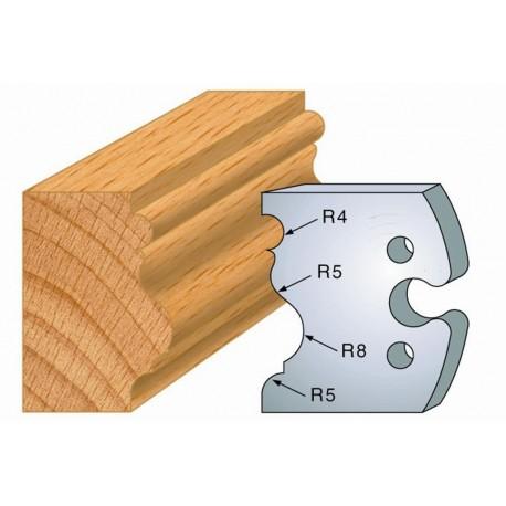 Juego de 2 cuchillas perfiladas de 50 x 5,5 mm. referencia 855.228