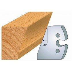 Juego de 2 cuchillas perfiladas de 50 x 5,5 mm. referencia 855.230