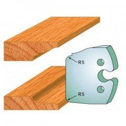 Juego de 2 cuchillas perfiladas de 50 x 5,5 mm. referencia 855.231