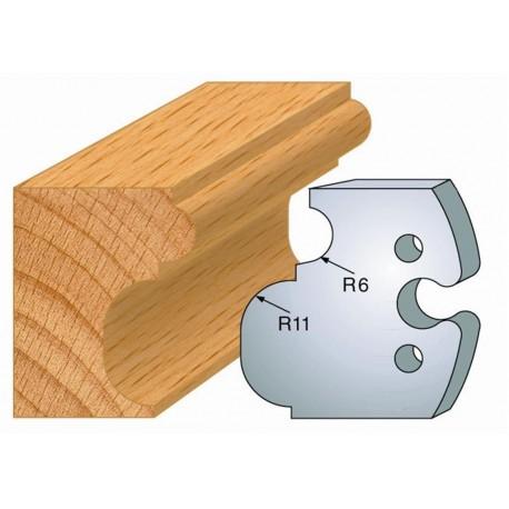 Juego de 2 cuchillas perfiladas de 50 x 5,5 mm. referencia 855.234