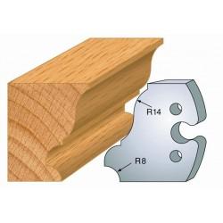 Juego de 2 cuchillas perfiladas de 50 x 5,5 mm. referencia 855.235