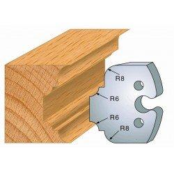 Juego de 2 cuchillas perfiladas de 50 x 5,5 mm. referencia 855.236